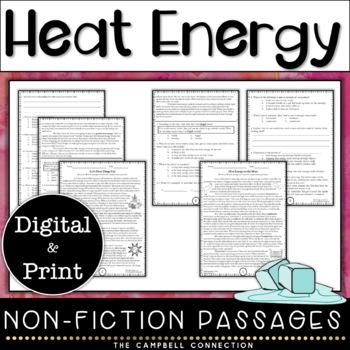 Heat Nonfiction Reading Comprehension Passages