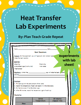Heat Transfer Lab Experiments