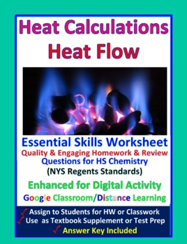 Heat and Heat Calculation - Worksheets & Practice Question