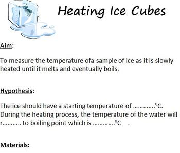 Heating Ice Experiment