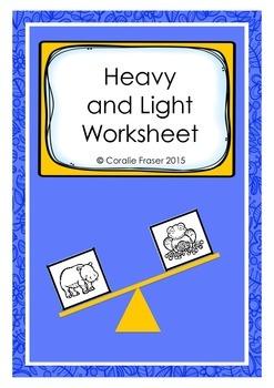 Heavy and Light Worksheet Freebie