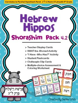 Hebrew Hippos Shorashim (Roots) Activities - Parshat Vayis