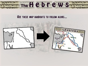 Hebrew/Israel Map Activity: follow along to trace Abraham