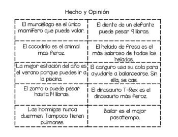 Hecho y Opinion
