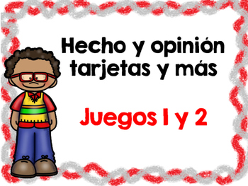 Hecho y Opinión Paquete- Fact and Opinion Bundle Spanish