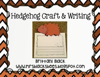 Hedgehog Craft and Writing