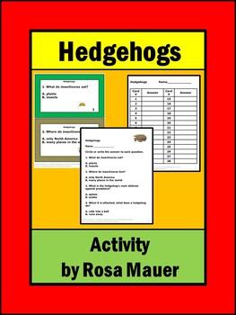 Hedgehogs Task Cards