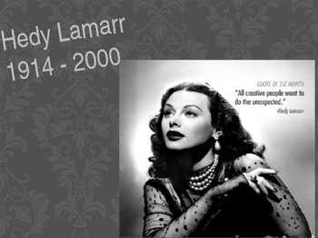 Hedy Lamarr-Biography, graphic organizer, video clip, jour