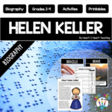Helen Keller Biography Unit w/Articles, Activities & Flip Book