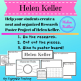 Helen Keller Biography Research Poster Kit