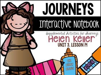 Helen Keller Unit 3, Lesson 14 Journeys Print & Go with In