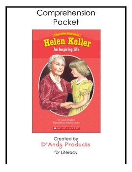 Helen Keller comprehension packet