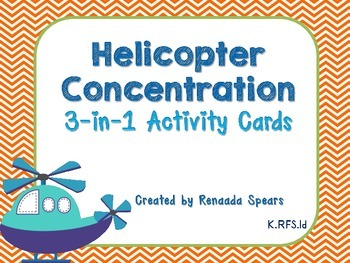 Helicopter Concentration 3-in-1 Matching Alphabet Activity Cards
