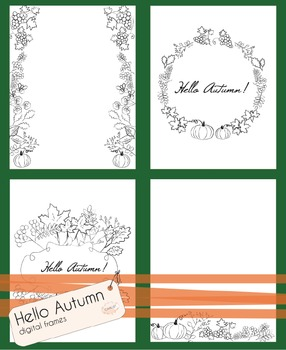 {FREEBIE} Hello Autumn - Fall and Thanksgiving Colouring D