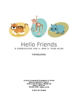 Hello Friends! [PREVIEW] Entire Year Preschool Curriculum