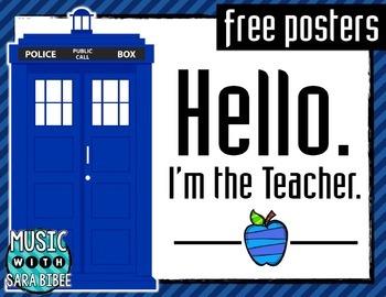 Hello. I'm the Teacher Posters