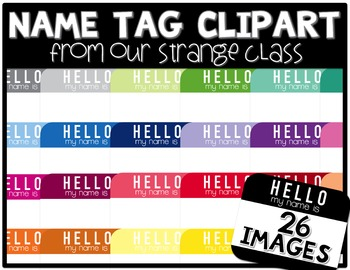 """""""Hello My Name Is"""" Tags (Graphics for Comercial Use)"""