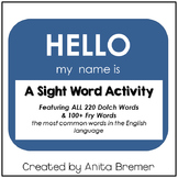 Hello My Name Is {sight word activity}