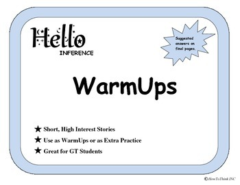 """""""Hello Reading"""" Inference WarmUps - General"""