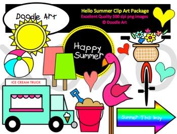 Hello Summer Clipart Pack