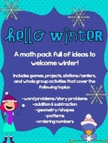 Hello Winter: Math Mega Pack (Addition/Subtraction, Geomet