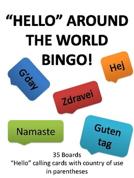 Hello around the world BINGO!