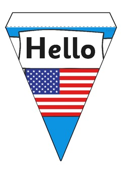 Hello in Mixed Languages on Bunting