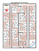 Help Cupid on Valentine's Day Maze ~ One Work Sheet w/ Key