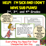 Emergency Sub Plans: Help I'm Sick and I Don't Have Sub Plans