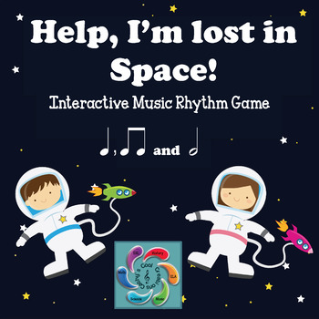 Help! I'm lost in Space! A Music Reading Game-half note edition