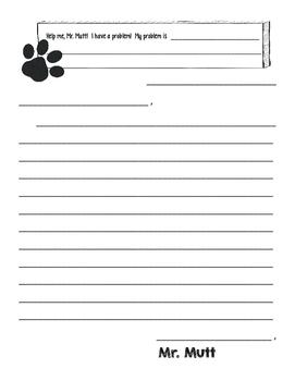 Help Me, Mr. Mutt!  -- Letter format