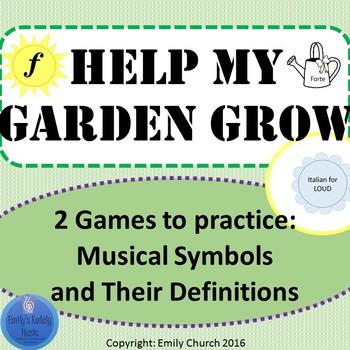 Help My Garden Grow- Music Symbols