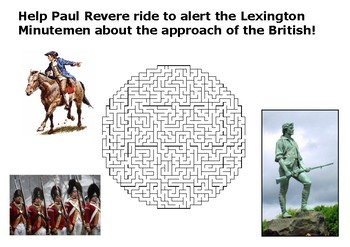Help Paul Revere warn about the approach of the British ma