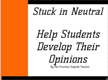 Help Students Develop Their Opinions-Worksheet for Stuck i