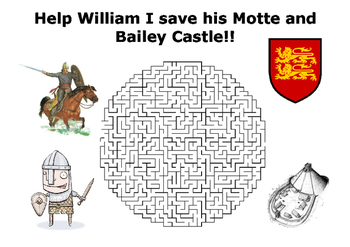 Help William I save his Motte and Bailey Castle Maze Puzzle