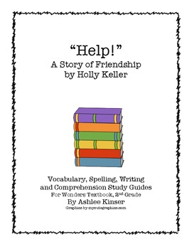 """Help!"" by Holly Keller -Spelling, Vocabulary, study guide"