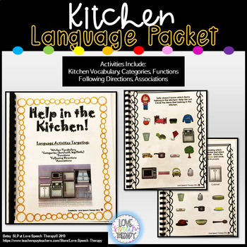 Help in the Kitchen! NO PREP! All with VISUAL SUPPORTS!