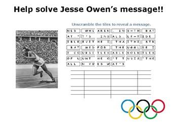Help solve Jesse Owen's message!!