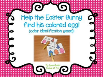 Help the Easter Bunny find his colored egg! (color identif