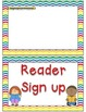 Helper and Reader Sign-ups ~ Chevron Rainbow Print with wh