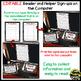 Helper and Reader Sign-ups ~ Polka Dot B/W Print
