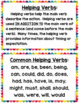 Helping, Action, and Linking Verbs Anchor Charts and Task Cards