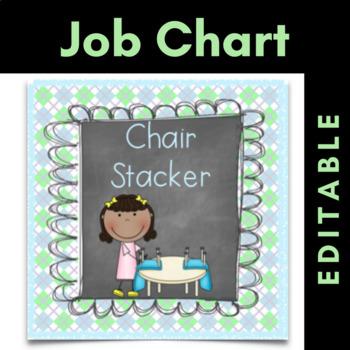 Classroom Job Chart Cards {Editable} Chalkboard Theme