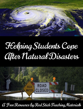Freebie: Helping Studies Cope with Natural Disasters