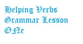 Helping Verbs - Pre-Quiz or Review Game
