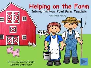 Helping on the Farm Interactive PowerPoint Game Template f