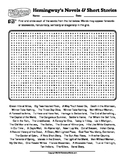 Hemingway's Novels & Short Stories Word Search