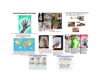 Henna Designed Monochromatic / Value Paintings-FLIPCHART
