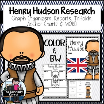 Henry Hudson Biography Research Bundle {Report, Trifold, & MORE!}