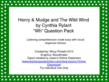 """Henry & Mudge and the Wild Wind by Cynthia Rylant """"Wh"""" Que"""